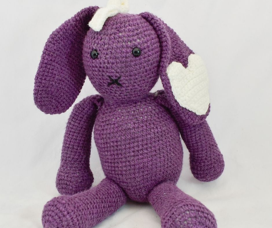 Purple Love Bear