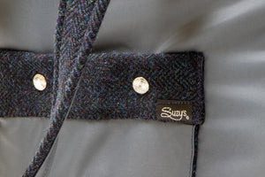 Tweedy Bear - Grey and Blue tweed dog carrier