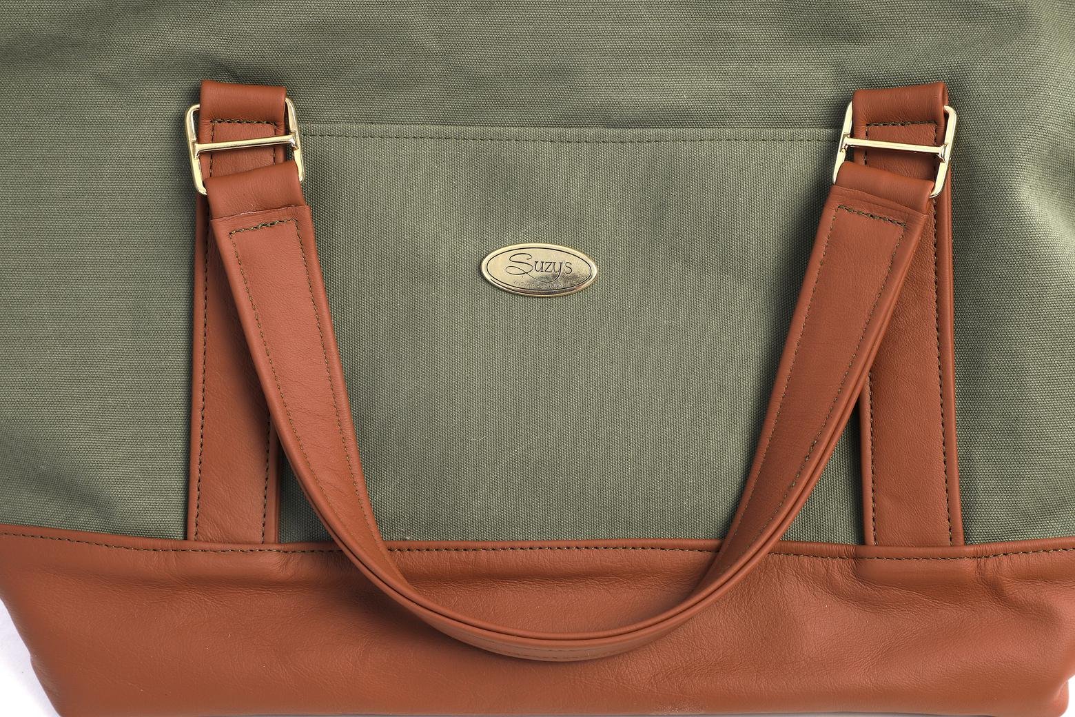Dandy Green / Cognac Dog carrier