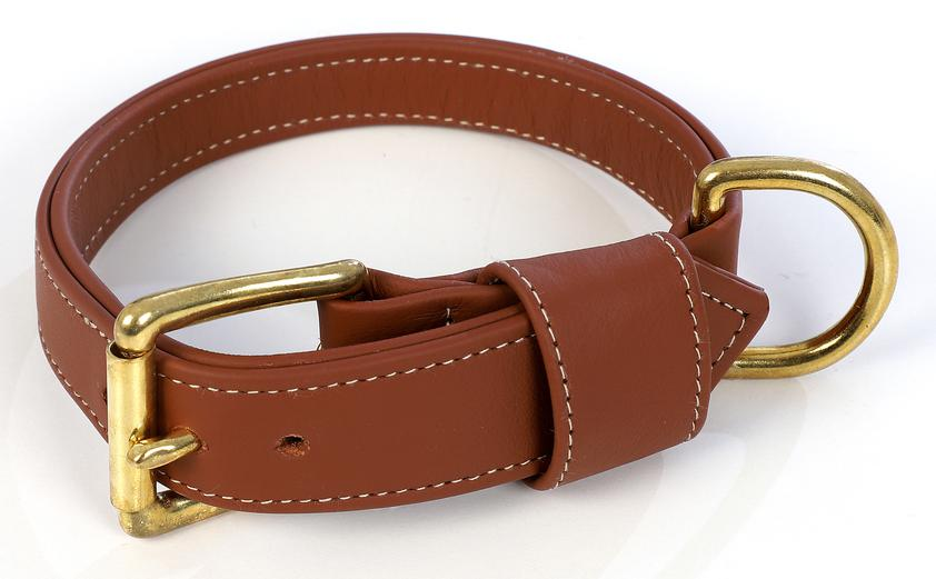 Dark brown Royal Leather Dog Collar