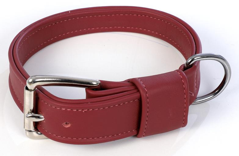 Fuchsia Royal Leather Dog Collar