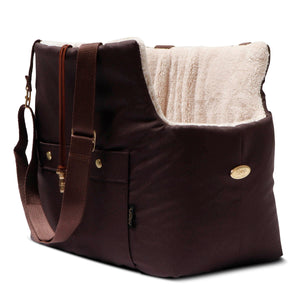 Brownie Waterproof dog carrier with beige lining