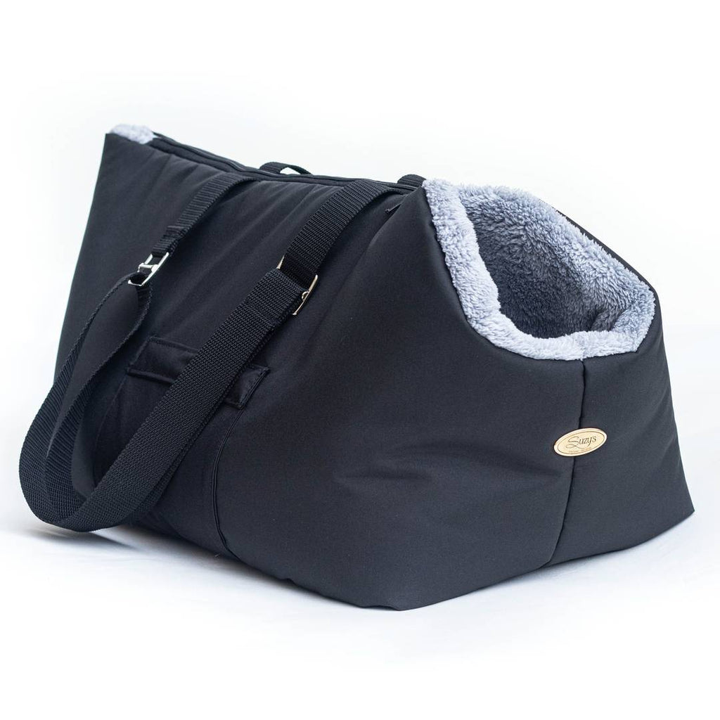 Rainy Bear Black and Grey Carrier with zipper