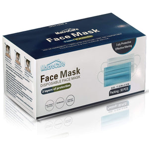 3 Ply Face Masks - 50 x Pack maskcoronavirus.co.uk 50-SURGICAL