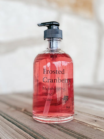 Simplified Soap Frosted Cranberry Hand Soap