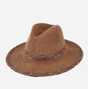 Knitted Panama Fedora With Color Pop