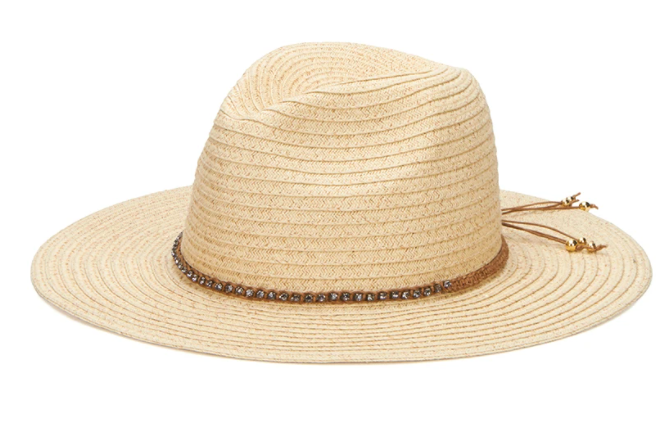 Women's Panama Fedora with Braided Paper