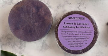 Simplified Soap Lemon & Lavender Loofah Soap