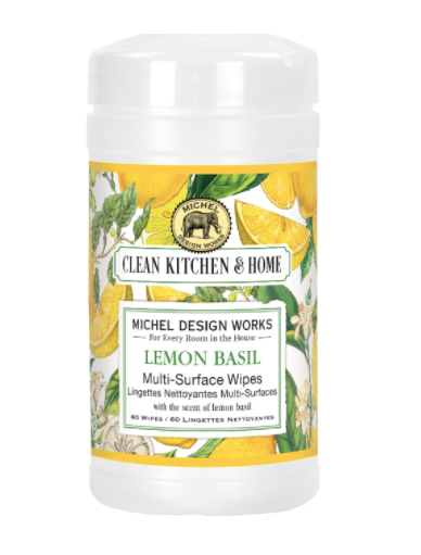 Lemon Basil Multi Surface Wipes