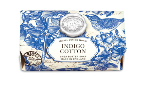 Michel Design Works Indigo Cotton Large Soap