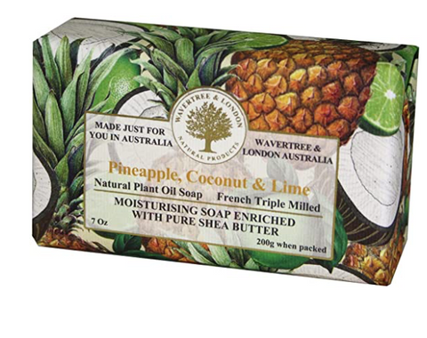 Wavertree & London Pineapple, Coconut & Lime Soap Bar