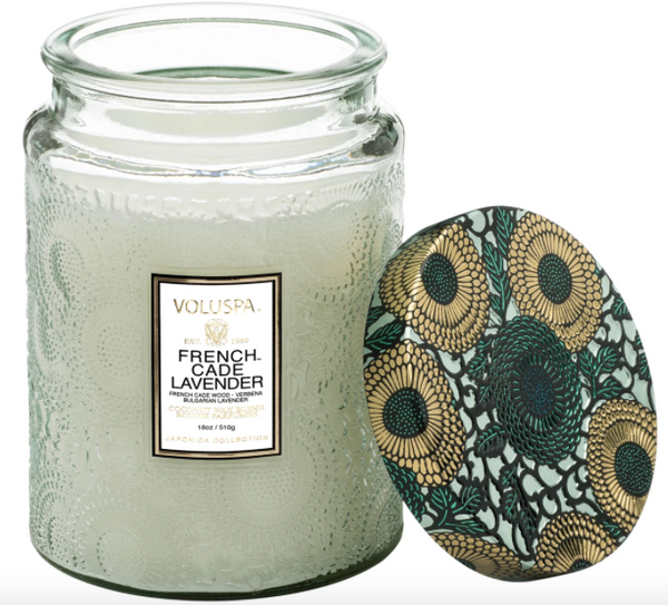 Voluspa French Cade & Lavender Coconut Wax Candle