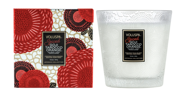 Voluspa Spiced Goji Taracco Orange Coconut Wax Candle