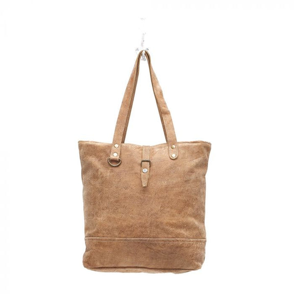 Button Leather Tote