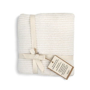 Chenille Throw , Cream