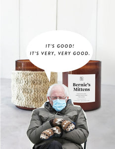 ***PREORDER and LIMITED EDITION*** Bernies mittens candle