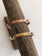 Load image into Gallery viewer, mantra cuff in brass