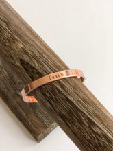 Load image into Gallery viewer, mantra cuff in copper