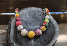 Load image into Gallery viewer, kantha statement necklace