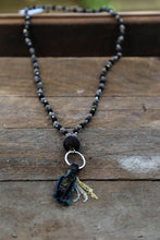 Load image into Gallery viewer, Kantha Noir Tassle Necklace