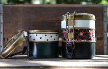 Load image into Gallery viewer, Floral 2 or 3 stack Tiffin Tin Set