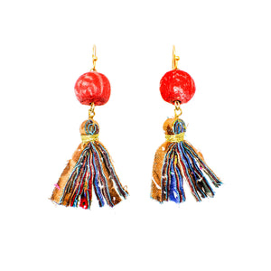 Adya kantha drop earrings