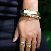 Load image into Gallery viewer, Interlocking Ripple Bracelet in gold, silver or copper