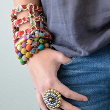Load image into Gallery viewer, Kantha Bauble Bracelet