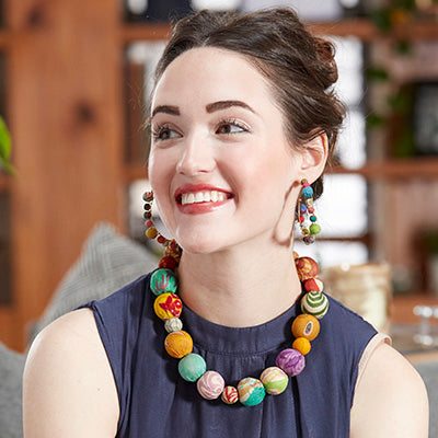 Kantha Collar Bauble Necklace