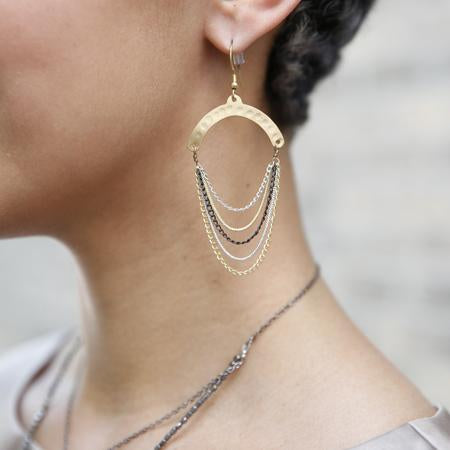 Dripping Chain Earrings