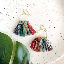 Load image into Gallery viewer, Kantha Fringe earring