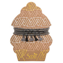 Load image into Gallery viewer, Metallic tassel wrap- assorted stones