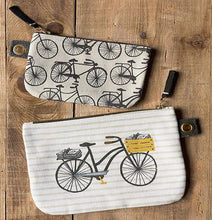 Load image into Gallery viewer, Bicicletta Zipper Pouch- large
