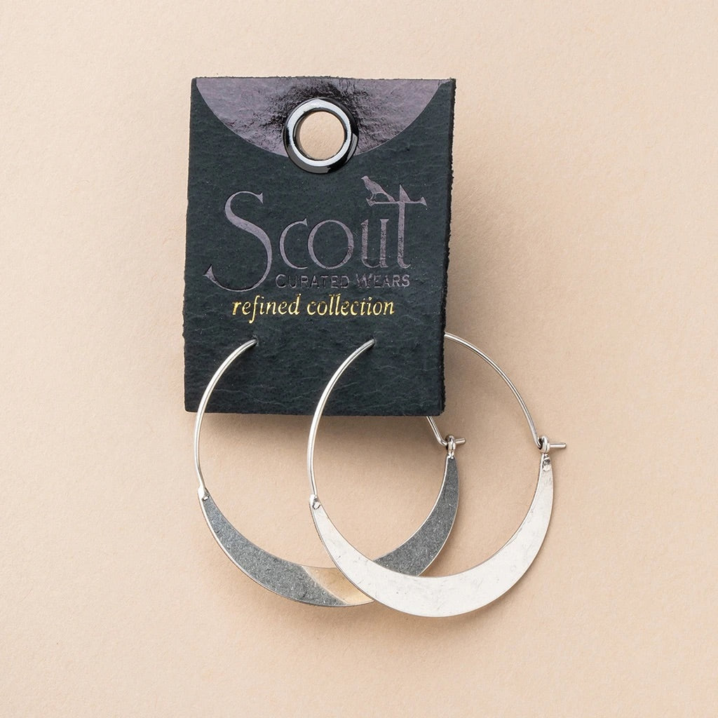 Refined Hoop in silver or gold