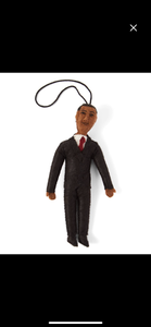 Barack Obama felted ornament