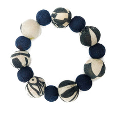 Load image into Gallery viewer, Indigo Kantha Bauble Bracelet