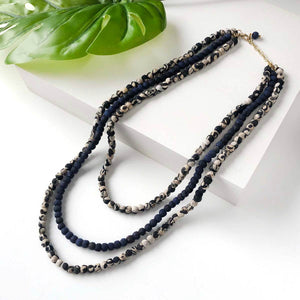 Indigo Kantha Necklace