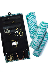 Wayfarer Jewelry Roll/ Travel Case