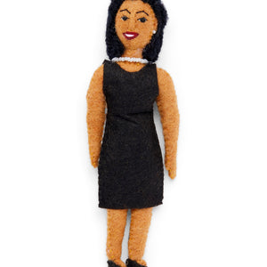 Michelle Obama Felted Ornament