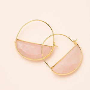 Stone Prism Hoops- assorted stones