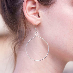 twisted silver hoop earrings