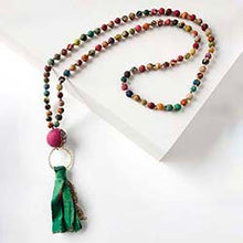 Load image into Gallery viewer, Kantha Spice Tassel Necklace