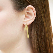 Load image into Gallery viewer, Triton Earrings in gold or silver