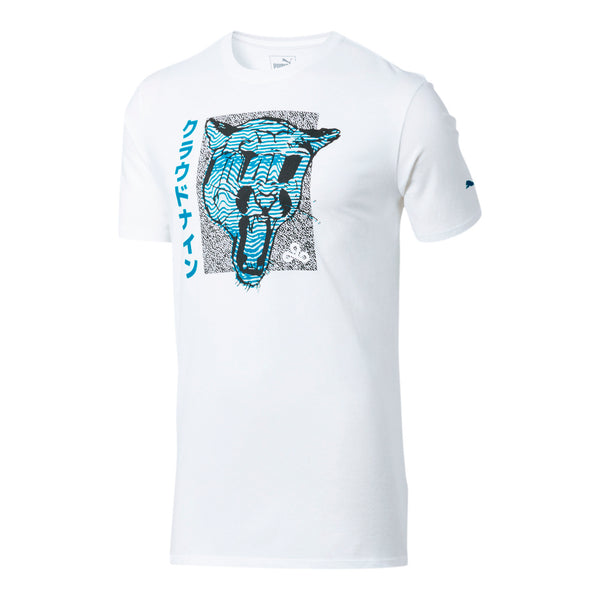 Puma X Cloud9 Big Cat T-shirt. White.