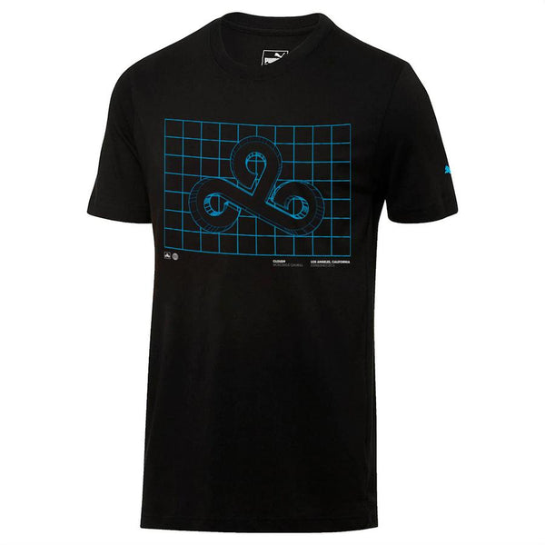 Puma x Cloud9 Blueprint Tee. Black.