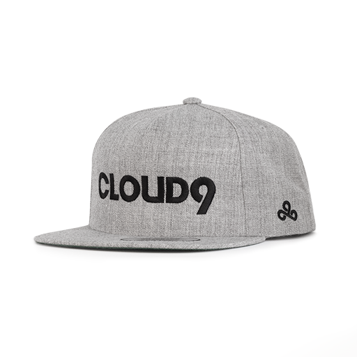 Cloud9 Wordmark Snapback Hat - Gray