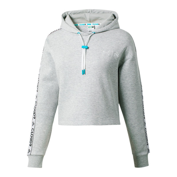 Puma x Cloud9 Glitch Hoodie. Womens. Grey.