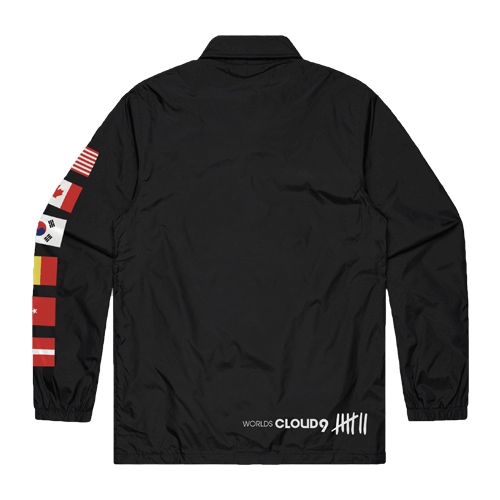 Cloud9 2019 Worlds Coach Jacket - Black.
