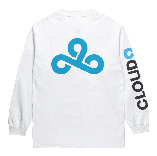Cloud9 Lockup Long Sleeve T-Shirt - White