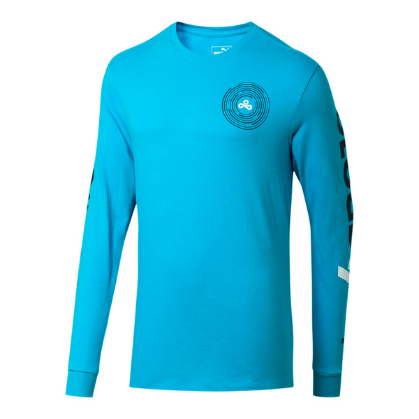 Puma x Cloud9 Orbit Long Sleeve T-shirt. Blue